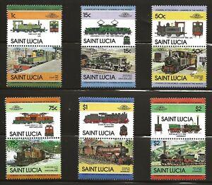 St. Lucia  (1984)  - Scott # 674 - 679,   MNH