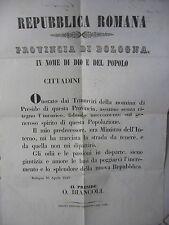 P158-REPUBBLICA ROMANA-BOLOGNA 1849