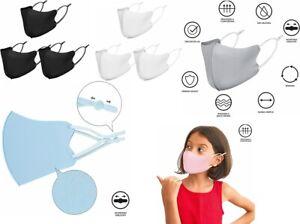 NUUR Kid Face Mask Adjustable Boy Girl Fabric Reusable Ear Loops Breathable 3Pcs