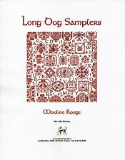 Mouline Rouge Cross Stitch Chart Pack - Long Dog Samplers - NIP