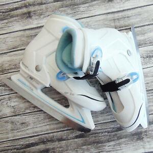 Lake Placid NITRO 7.7 Adjustable Youth Ice Skates Size 2-3-4 Clean  IF 1.0