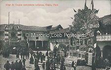 PERU ALTAR DE CORPUS COSTUMBRES INDIGENAS CUZCO ED. VARGAS 188502
