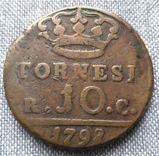 Italie Naples-Sicile 10 Tornesi 1798 P RC    [207]
