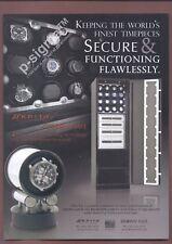 ORBITA Watchwinders Brown Safe - Watch Safe Print Ad