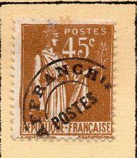"""FRANCE = 45 C """"LA PAIX"""" avec pré-annuler. MH ou utilisées (sans gomme) Charnière de page."""