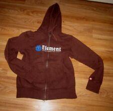 Element for Life Herren Sweatjacke Hoodie  Joggings Sport Jacke Dunkelbraun Gr S