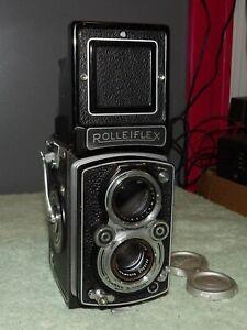 Rolleiflex TLR Camera & Schneider Kreuznach 75mm/f1:3.5 Xenar Lens & Cap