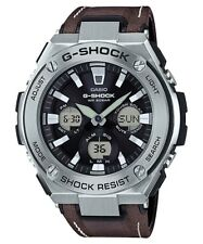 Casio G-Shock G-Steel Analogue/Digital Black Brown Solar Mens Watch GSTS130L-1A