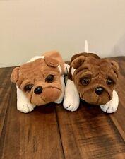 Set of 2 Vintage Plushland Stuffed Animal Toys Puppy Dogs 1999