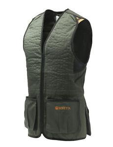 Beretta Trap Cotton Skeet Vest Unisex Green & Black Shoot Clays Trap #GT083