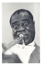 Nostalgia Postcard Musician Louis Armstrong 1956 Reproduction Card NS53