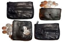 Lot of 4 Change purse, leather coin case, Little case w/ key ring New in package