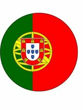 """PORTUGAL - 7.5"""" Rice Paper Cake Topper - Free P&P-PERSONALISED"""