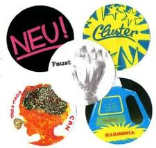 5 KRAUTROCK  BADGES,  Can, Neu, Cluster, Harmonia, Faust, Psychedelia.