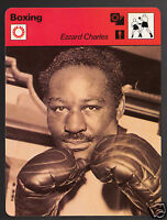 EZZARD CHARLES Tranquil Tiger Boxing Boxer 1978 SPORTSCASTER CARD 42-18