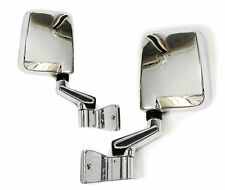 Chrome side mirrors with frame for Jeep Wrangler YJ TJ 86-07