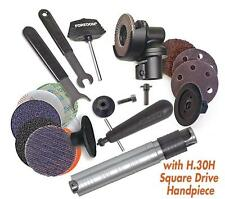 """Foredom Ak69130H 2"""" Angle Grinder Kit With #30H Square Drive Handpiece + Access"""