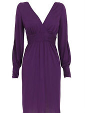 BIBA PURPLE MODAL JERSEY DRESS BNWT RETAIL £75 SIZE UK 8