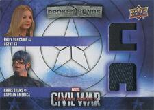 Captain America Civil War Costume Card BBC-AC Emily VanCamp & Chris Evans