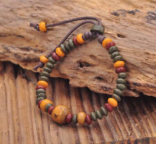 G164 G Handmade Craft Hemp Surfer Wristband Bracelet Bangle Ceramic Clay Beads
