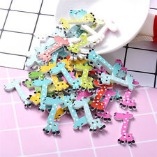 Giraffe Wooden Buttons Decorative Animal Wooden 2 Holes Sewing Buttons for kids