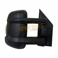 Peugeot Boxer Van 2006-> Medium Arm Electric Black Wing Door Mirror Drivers Side