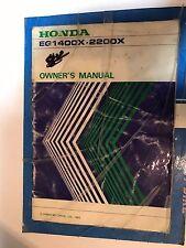 HONDA EG1400X 2200X OWNER'S MANUAL 1983