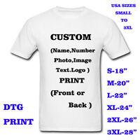 Personalized t-shirt,custom your text printed many colors shirts