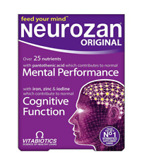 Vitabiotics Neurozan Original - 30 Tablets Iron Zinc Iodine Mental Performance