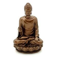 "BUDDHA STATUE 3"" Bronze Resin Sakyamuni HIGH QUALITY Figurine Buddhist Deity NEW"