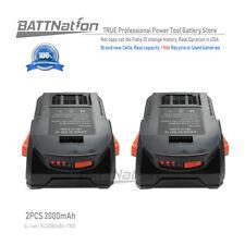 2 x 18V 2.0AH Lithium-Ion Power Tool Battery for 18 Volt RIDGID AC840086 R840086