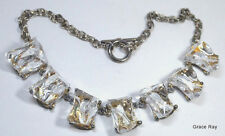 Ice Cube Lucite Choker Necklace Clear Lucite Necklace Modernist Vintage Jewelry