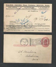1912-14 Walter Jacobs Music Publisher Boston Ma Advertising Us Postal Card Ux24