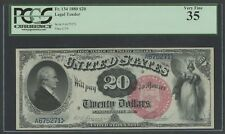 FR134 $20 1880 LEGAL TENDER PCGS 35 VF (ONLY 55 KNOWN) RARE WLM7118