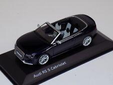 1/43 Minichamps Audi RS5 cabriolet Dark Blue Dealer Edition