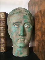 Très expression BUSTE ROMAIN en BRONZE  - Hauteur 20 cm ROMAN HEAD