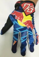 Blue Red Bull gloves. Motocross. Bike. ATV. BMX.Enduro. KTM Cycle Free P&P