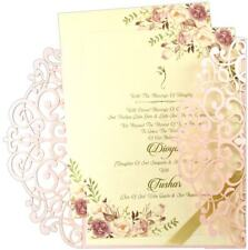 Laser Cut Wedding Invitations Cards Lot Envelopes