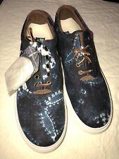 Men's Polo Ralph Lauren Vaughn Shibori Tye Dye Sneaker Indigo Blue Size 11.5