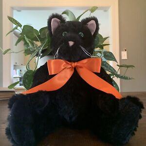 "VERMONT TEDDY BEAR 15"" Classic Black Cat HALLOWEEN"