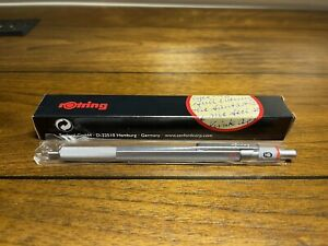 Rotring 600 Vintage Old Edition Silver Mechanical Pencil BRAND NEW