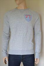 Nueva Abercrombie & Fitch EE. UU. Estados Unidos Fútbol Fútbol Sudadera Gris XXL