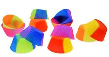 12x Multi-Colored Cupcake Muffin Mold Made of Silicone - 6 Colors Baking Tin