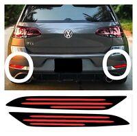 X2 Vw Golf Mk7.5 Golf GTI R GTD Rear Bumper Reflector Overlay Decal Sticker