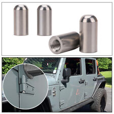 4x Door Pin Bolts Guides Door Hinge Liners for 1997-2020 Jeep Wranglers TJ JK JL