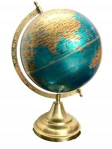 Educational World Globe ,Golden Green Decorative Laminated 8 Inch Rotating Globe