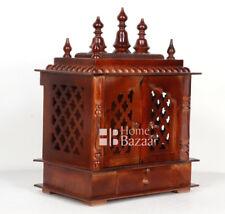 Wooden Handcrafted Home Mandir Pooja Ghar Mandapam Worship Hindu Temple KI-123