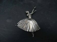 Ballerina Brooch hallmarked with registration details.