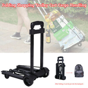 Protable Shopping Trolley Cart Folding Roller Freight Hand Luggage Home Travel