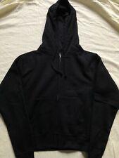 Stussy Womens Hoodie Small Pullover Blank Full Zip Black